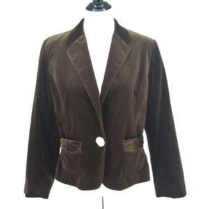 New Pursuits Size 12 Blazer Brown Velvet Classic